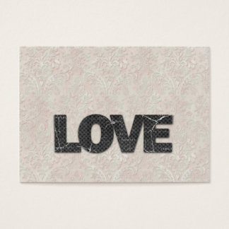 Love Word on soft pink lace background Business Card