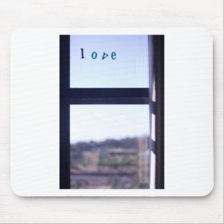 Love word on window photograph romantic valentines alfombrillas de ratones