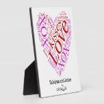 Love Words Heart Plaque