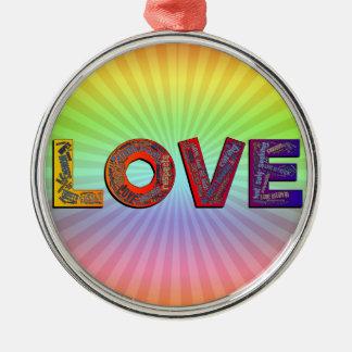 LOVE WORDS METAL ORNAMENT