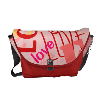 love words text design courier bags