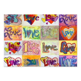 Love Words XOXO Mosaic Invites or Invitations