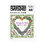 Love Wreath Personalized Wedding Postage ~ 1 Oz.