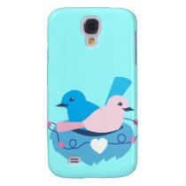 Love wrens lovebirds nest galaxy s4 cover