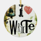 Love Writing Ceramic Ornament