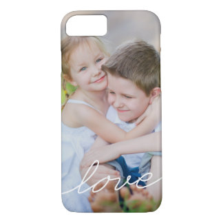 LOVE Writing Custom Photo iPhone Case