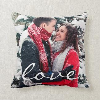 Love writing custom photo modern elegant stylish throw pillow