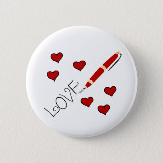 Love (Writing) Pinback Button