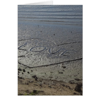 Love Written in the Sand Card