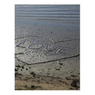 Love Written in the Sand Postcard
