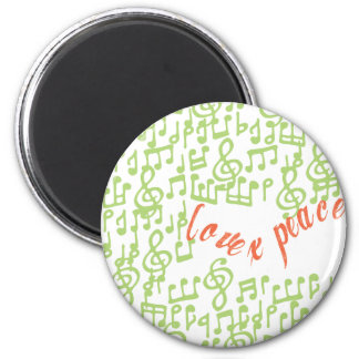 Love x Peace 2 Inch Round Magnet