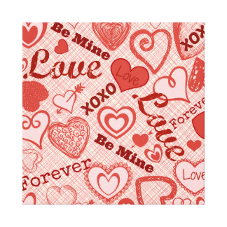 Love XOXO Be Mine Forever Hearts Valentine's Day Canvas Print