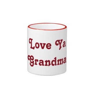Love Ya Grandma Ringer Mug