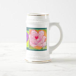 'Love ya' HEARTS & FLOWERS mug/stein 18 Oz Beer Stein