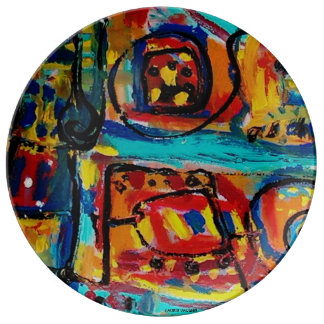 Love Ya Too Much-Abstract Art Decorative Plate
