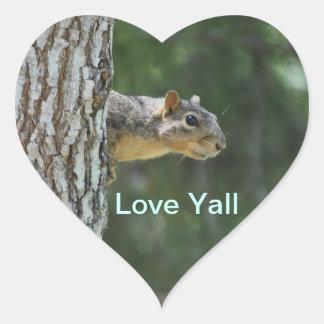 Love Yall Sparkie Sticker