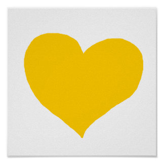love yellow color poster