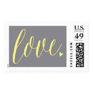 Love - Yellow & Grey Postage