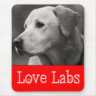 Love Yellow Labrador Retriever Puppy Dog Mousepad