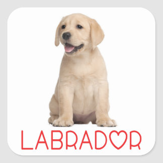 Love Yellow Labrador Retriever Puppy Dog Stickers