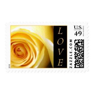 Love Yellow Rose Stamp
