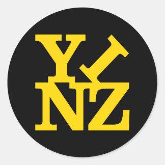 Love Yinz Classic Round Sticker