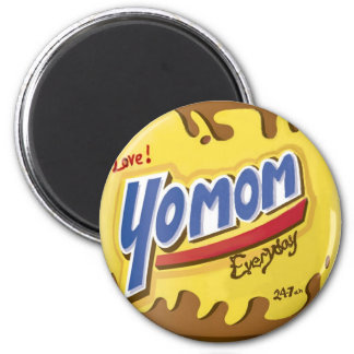Love yo mom everyday 24/7 Funny & unique pop art 2 Inch Round Magnet
