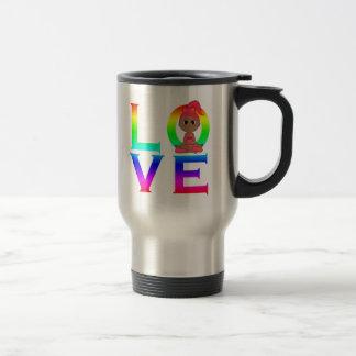 LOVE: Yoga with Girl Travel Mug