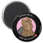 Love Yorkie 2 Inch Round Magnet