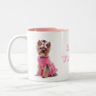 Love Yorkie Yorkshire Terrier Puppy Dog Coffee Mug