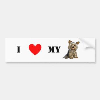 Love Yorkies Sticker Bumper Stickers