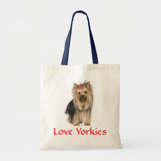 Love Yorkies Yorkshire Terrier Pupy Dog  Totebag Tote Bag