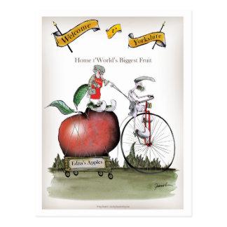 Love Yorkshire big apples Postcard
