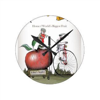 Love Yorkshire big apples Round Clock