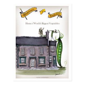 Love Yorkshire big peapods Postcard