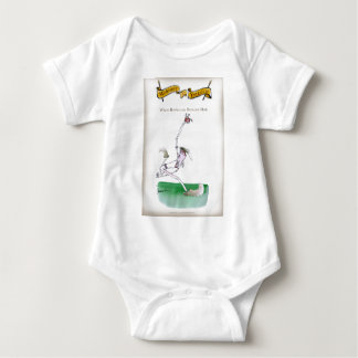 Love Yorkshire Cricket 'bowlers are born not made' Baby Bodysuit