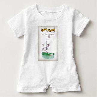 Love Yorkshire Cricket 'bowlers are born not made' Baby Romper