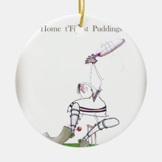 Love Yorkshire Cricket 'finest puddings' Ceramic Ornament