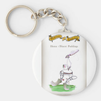 Love Yorkshire Cricket 'finest puddings' Keychain