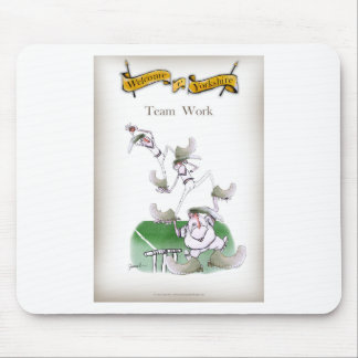 Love Yorkshire Cricket 'team work' Mouse Pad