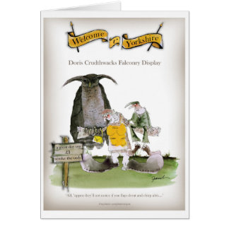 love yorkshire falconry display card