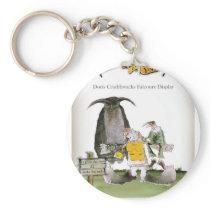 love yorkshire falconry display keychain