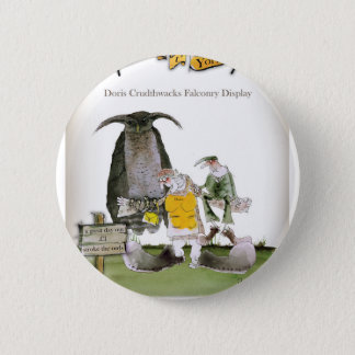 love yorkshire falconry display pinback button