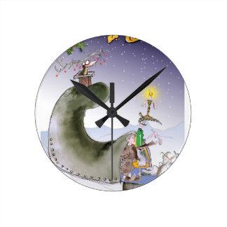 love yorkshire happy christmas round clock