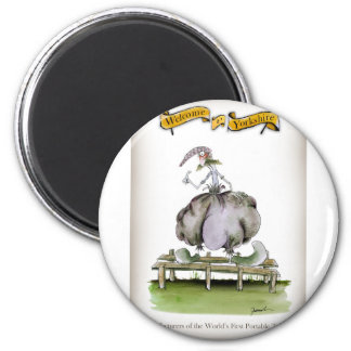 Love Yorkshire portable toilet invention Magnet