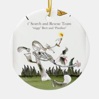 love yorkshire search and rescue ceramic ornament