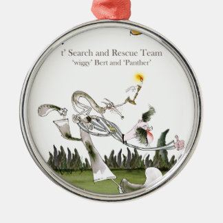 love yorkshire search and rescue metal ornament
