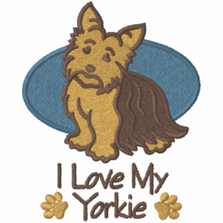 Love Yorkshire Terrier Embroidered Hoodie