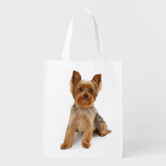 Love Yorkshire Terrier Puppy Dog Grocery Bag