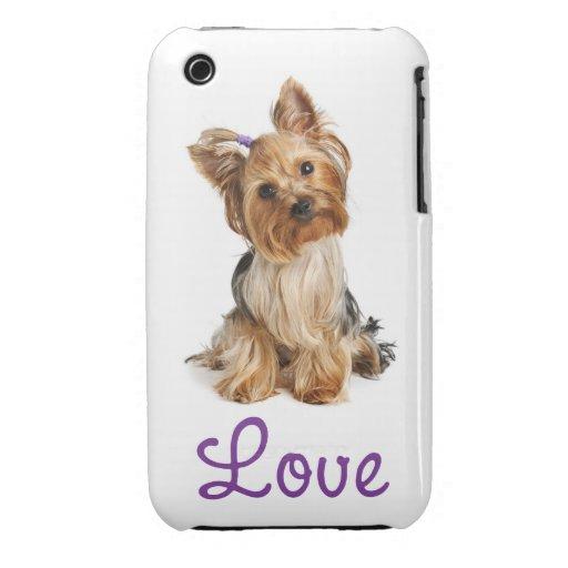 Love Yorkshire Terrier Puppy Dog iPhone 3 Case